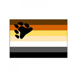 Bear Pride Flag 90 x 150 cm (T1261)