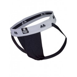MM The Original Jockstrap Underwear Black/Grey 2 inch (T6220)