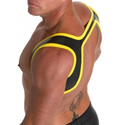 665 Neoprene Slingshot Harness Black/Yellow (T3406)