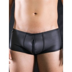 BoXer Neo Boxer Short Double Zip Underwear Black (T6973)
