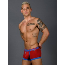 Andrew Christian Fly Tagless Boxer w/ Almost Naked Underwear Red (T7403)