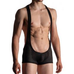 Manstore Wrestler Body M955 Underwear Black (T7509)