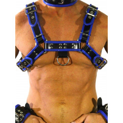 RudeRider Regular Shoulder Harness Leather Black/Blue (T7306)