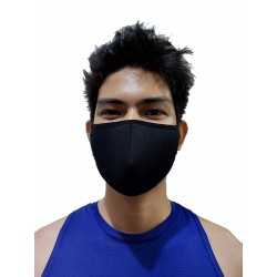 GB2 Designer Face Mask Black One Size (T7653)