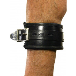 RudeRider Ankle Cuffs with Padding Leather Black/Black (Set of 2) One Size (T7336)