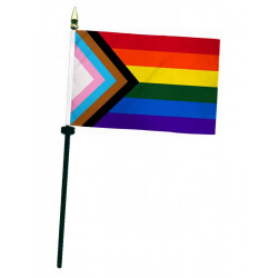 Rainbow Progress Hand Flag / Handflagge (T7770)