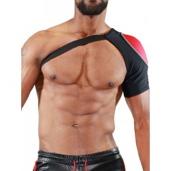 TOF Paris Fetish Shoulder Harness Black/Red (T7082)