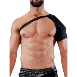 TOF Paris Fetish Shoulder Harness Black/White (T7081)