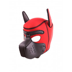 RudeRider Neoprene Puppy Hoods Red/Black (T7720)