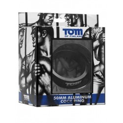 Tom of Finland Aluminum Cock Ring Black 50mm