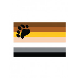 Bear Flag Aufkleber / Sticker 5.0 x 7,6 cm / 2 x 3 inch (T4729)