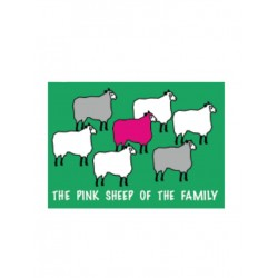 Pink Sheep Flag Aufkleber / Sticker 5.0 x 7,6 cm (T4734)