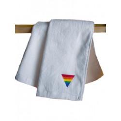 Rainbow Triangle Gym Towel White 30x112 cm / 12x44inch (T5243)