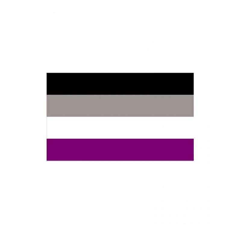 Asexual Flag Aufkleber / Sticker 5.0 x 7,6 cm / 2 x 3 inch (T5200)