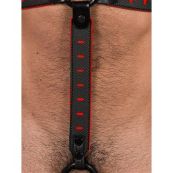 665 NeoFlex Down Strap Neoprene Harness Extension Regular Black/Red (T4976)