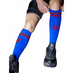 BoXer Football Sox One Size Royal Blue/Red (T5461)